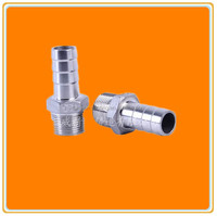Hose nipple with High Ni 8 more than 304 stainless steel pipe fittings with BSPT/NPT/BSP screw thread