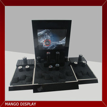 Customized Black Plating Metal Frame Timepiece Display for Watches