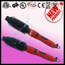 45W lcd screen round electric mens hair brush made by professional hair beauty tools manufacturer