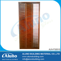 Timber Look Finish Aluminium Shutter Windows