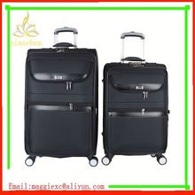 H75 Hot sale trolley luggage, 2012 lightweight abs/pc nylon luggage