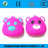 Wholesale customize fashion cute candy colorsilicone purses and ladies handbags with zipper