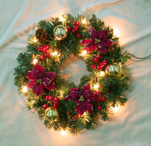 12v LED christmas wreaths popular wholesale festival ornament
