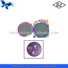 2x plastic decorative magnifying mirror with 3 suction cups