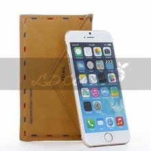 New leather folding wallet case for iphone 6 factory price
