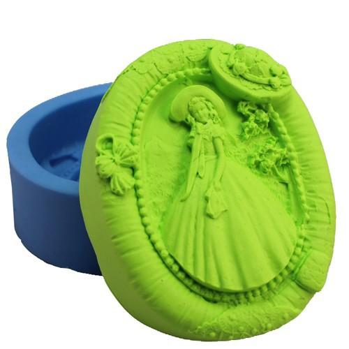 r0841 девушка мило мыла силиконовые формы