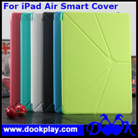 For iPad Air Smart Case Transformer Folding Cross Pattern Cover Case For iPad 5 Wake Sleep Cover