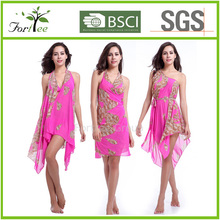2015 newest popular printing polyester beach cover up