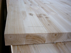 1220*2440mm E0E1glue rubber wood finger joint lamination board in good quality for indoor use