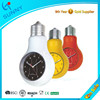 Sunny Unique Promotion Bulb Analog Quartz Wall Clock With Back Light