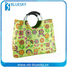 Cheap Reusable 600D foldable shopping bag printing