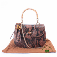 high end quality coffee snakeskin print leather handbags fashion ladies handle bag dropship paypal