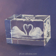 Hot Sale Fashion Crystal Wedding Gift,3d Laser Engraving Crystal Cube