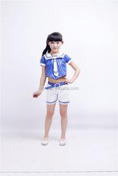 3 sizes children dance preppy style Short sleeve+shorts suit TW34