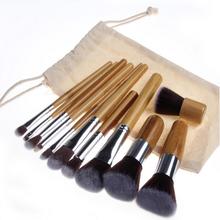Wholesale Bamboo Make up Brush, Professional Synthetic Hair Make up Brushes, Custom Logo Brush