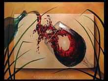 Romantic wine glass painting for wall decoration 19663
