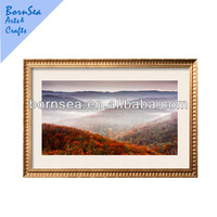 Natural scenery digital picture printing hanging wall art photo frame