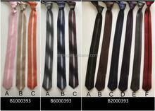 Contemporary discount golden stripe black skinny necktie