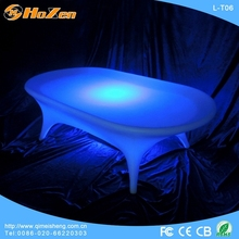 LED low table with stainless steel stand/LED low table with glass L-T02