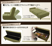 transformable sofa bed furniture/folding sofa bed/ottoman with storage
