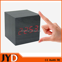 JYD- DAC03 Large LCD Woden Digital Desk Clock
