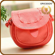 China supplier fashion lether orange cheap woman shoulder bag