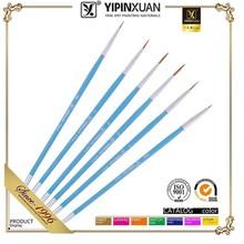 Wholesale 6 Pcs 2015 New Professional Nylon Hair Wood Handle Artist Paint Brush Set