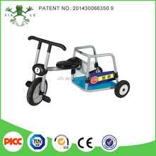 High quality outdoor toy cars kids tricycle and three wheels trailer