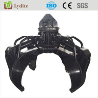 Chinese best quality excavator hydraulic rotating grab excavator grapple