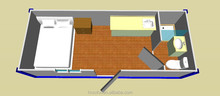 Flat pack prefab container house as office ,living room ,apartment