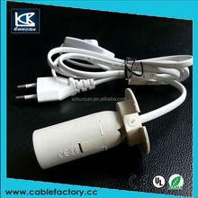 KUNCAN transparent switch coloured electrical cord to e12/e14/e27 base lamp cord
