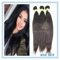 100% Unprocessed Brazilian hair weave,straight 300 grams virgin hair