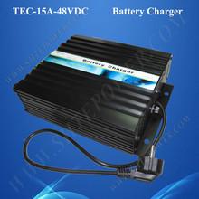 Alta calidad de la ca 240 v dc 48 v cargador de batería 15a para gel