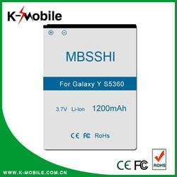 High Copy Best Price S5360 Battery for Samsung Galaxy Y EB454357VU Battery