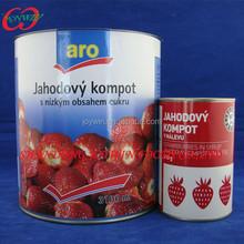 850 ml morango enlatado 0.82 kg de peso líquido