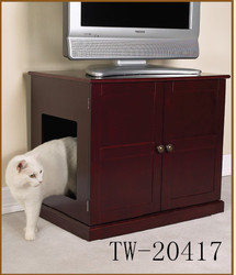Function useable end table wood pet house