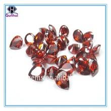 fashion garnet pear shape diamond cut design zircon stone