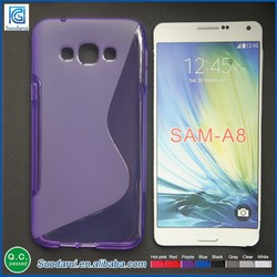 S-line case for samsung galaxy A8 tpu soft gel cover case Best cell phone case