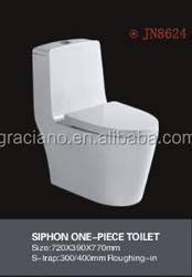 JN8624 Watersaving S-trap ceramic toilet