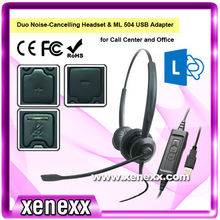 XU 585 High quality call center customer service phone headset
