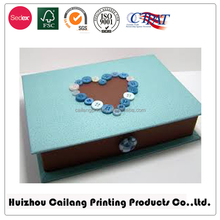 Decorate Book Shaped Paper Box For Packaging