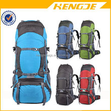 Hardwearing nylon outdoor camping & hiking backpack with rain cover , top quality hiking mountain bags