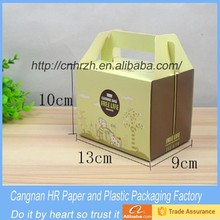 House shaped colorful printed cupcake box or chicken box for restaurant