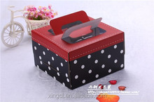 best price for Red and black point box food grade cardboard