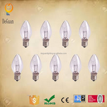 120V 5W C7 replacement Christmas decoration light bulb