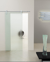 Waterproof sliding glass shower door
