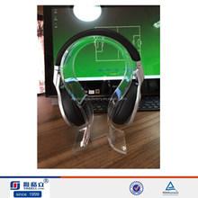 Wholesale acrylic headphone display,acrylic earphone display,acrylic headset holder desk