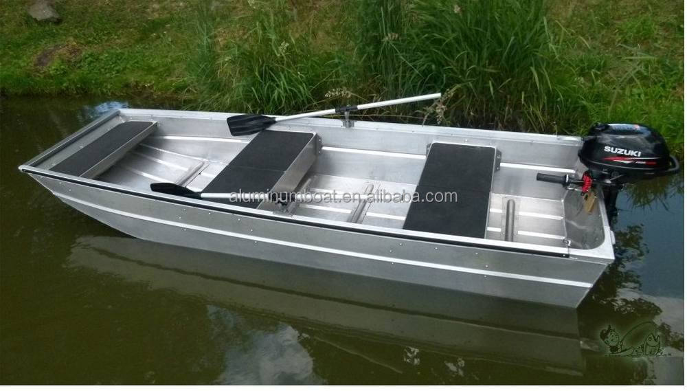 370 angler weld flat bottom punt view small fishing boats for Small aluminum fishing boats