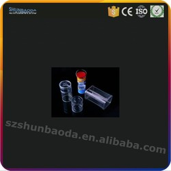 vacuum cylindrical packs pe blister plastic clear varnish for tennis or badminton