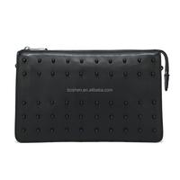 China handbag manufacturer genuine leather women hand bag Luxury cowhide nail hand bag